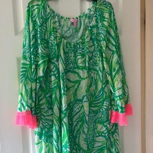 Pink and green Lilly Pulitzer cover up